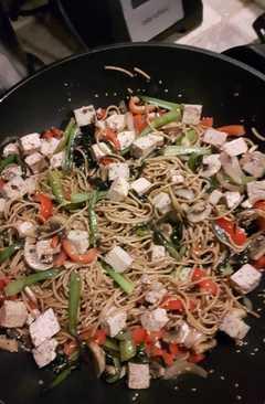resep masakan asia inspired tofu spaghetti