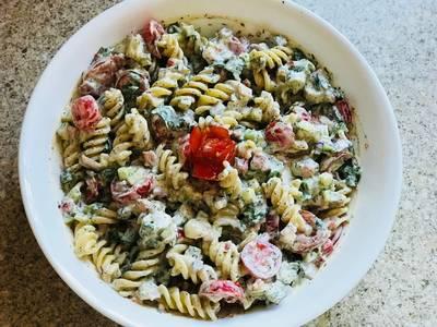 #Football season  #Pasta salad