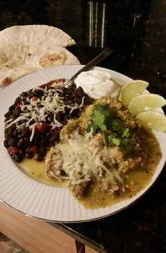 resep masakan brads slow cooker chile verde with ez black beans