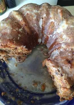 Moms Fresh Peach Cake