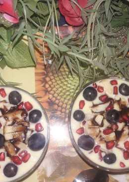 Fruits custard
