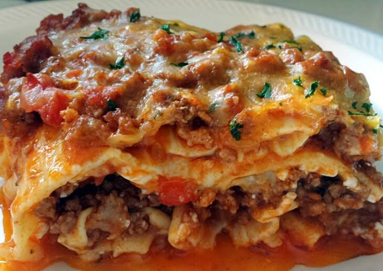 Ray's' Three Meat Lasagna Recipe by summerplace - Cookpad