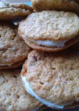 Vickys Easter Carrot Cake Sandwich Cookies, GF DF EF SF NF