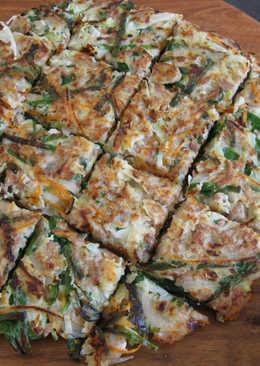 Okonomiyaki with Garlic Chives