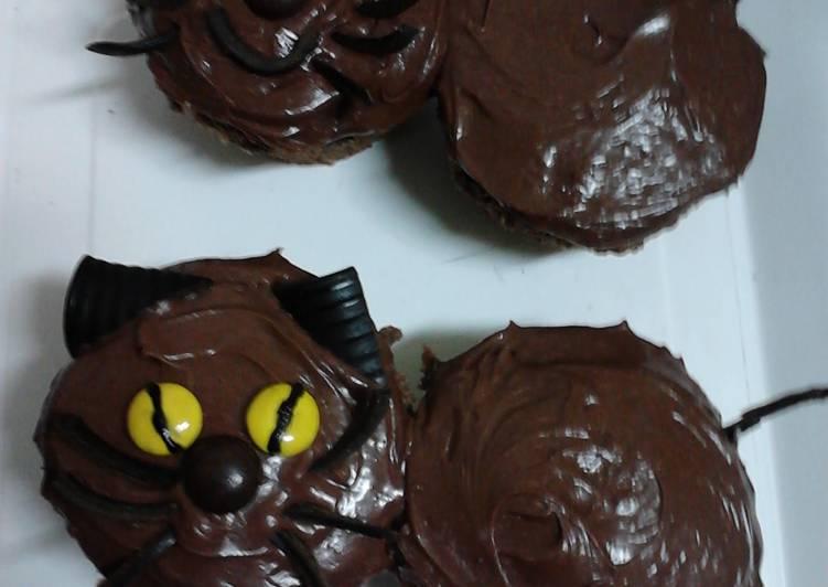Ladybirds Easy Black Cat Cup Cakes Recipe By Ladybird Cookpad Kenya