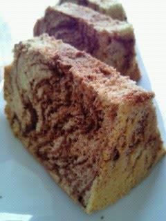 Chocolate Chestnut Marble Chiffon Cake