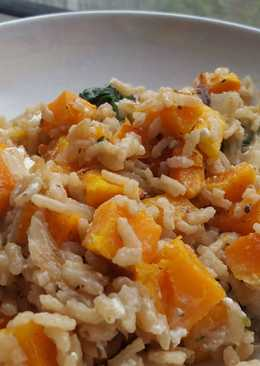 Butternut Squash and Spinach Risotto