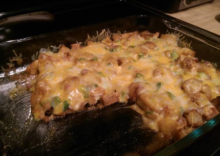 Buffalo chicken loaded baked potato casserole Recipe by ...