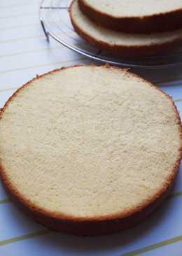 Light And Moist Milk Sponge Cake