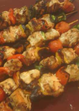 Lemon pepper chicken kabobs recipe