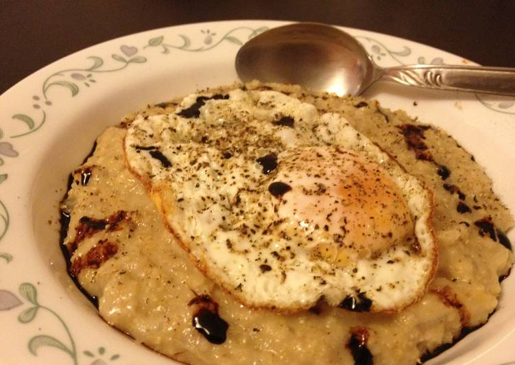 Asian Style Savoury Oatmeal with Fried Egg