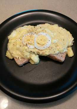 Chicken Noodle Eggs On Toast