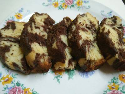 Marble Chocolate Eggless Cake