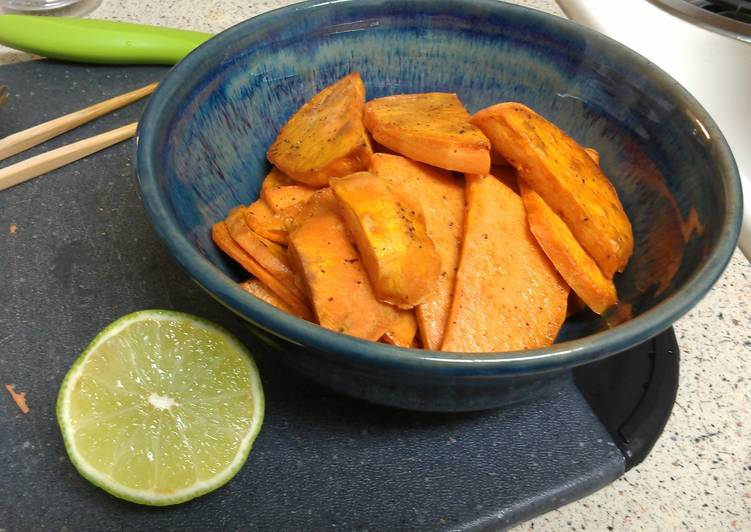 Fried Sweet Potatoes with Lime