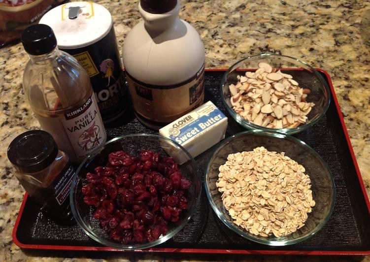 maple almond granola - Changs Kitchen