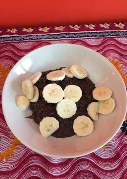 Chocolate coconut porridge