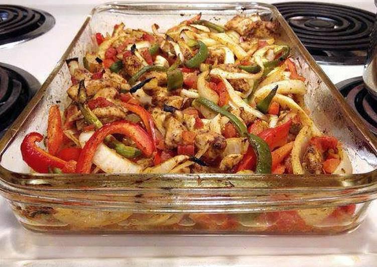 Baked Chicken Fajitas Heart Healthy Recipe By Amanda1021 Cookpad