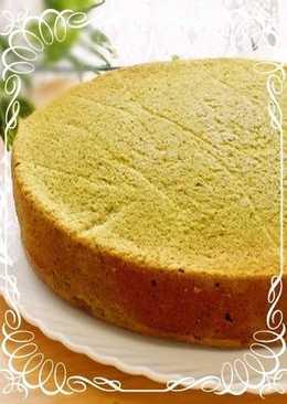 Moist And Fluffy Matcha Sponge Cake