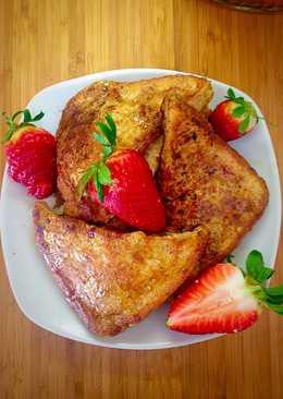 Stuffed Strawberry Cream French Toast