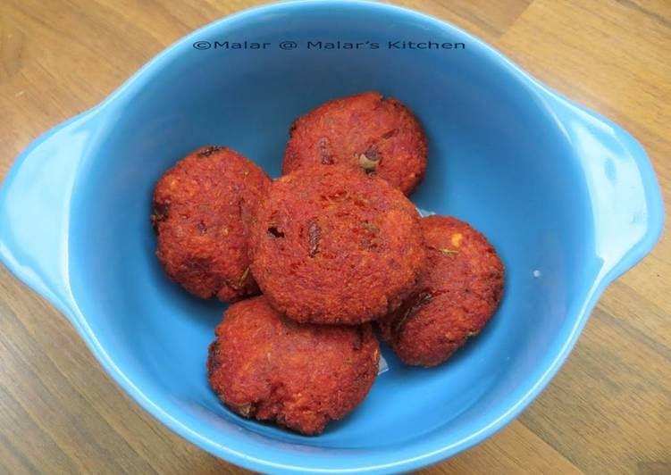 Beetroot Vadai ~ Guest post from Malar's kitchen
