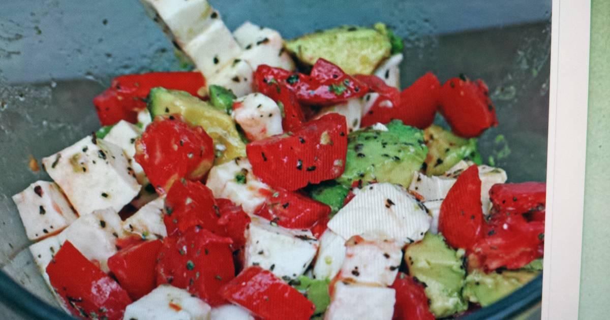рецепты салатов с моцареллой фото