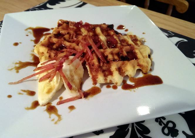 ... cream brown butter banana waffles buttermilk and brown butter waffles