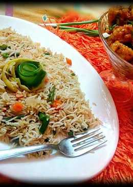Gobhi Manchurian with Veg Fried Rice