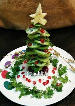Christmas tree Fruit salad
