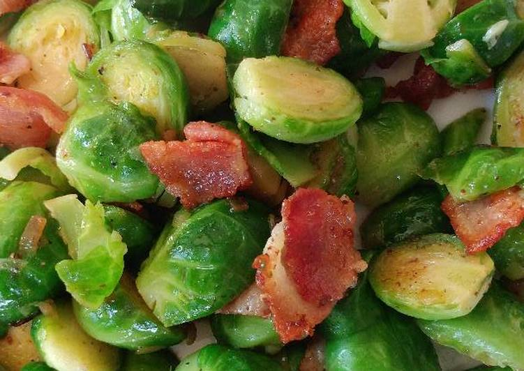 Carmelized Bacon Brussel Sprouts