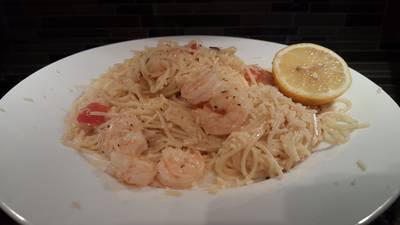 Quick shrimp scampi