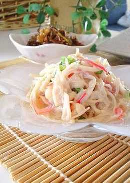 how to cook enoki mushrooms for salad