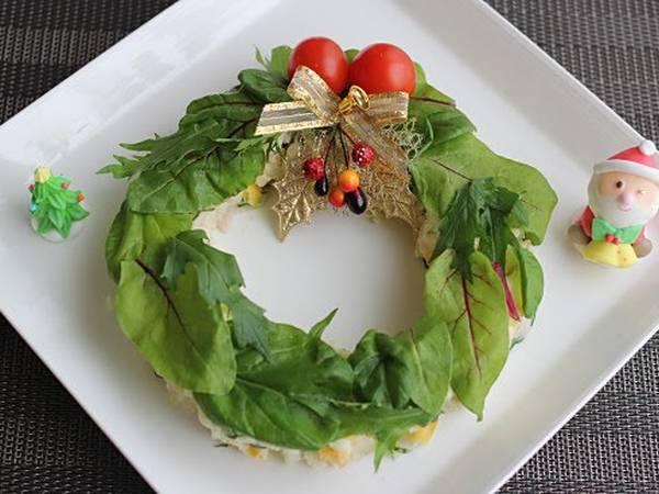 Christmas Potato Salad Wreath