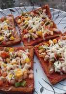 Easy pizza - bread pizza