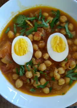 Chick Peas and Boiled Eggs