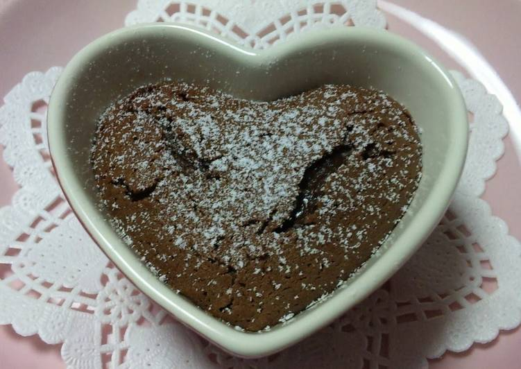 Easy Chocolate Fondant Cake For Valentine S Day Recipe By Cookpad