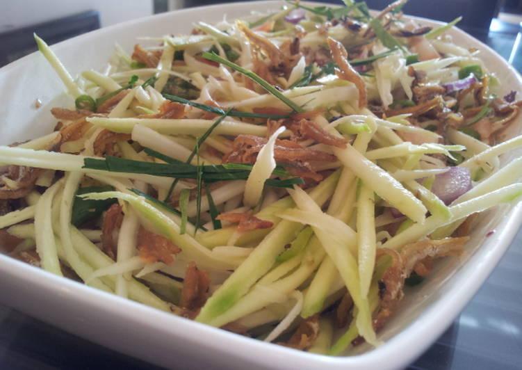 Kerabu mangga (Mango salad from Malaysia) Recipe by Mamta ...