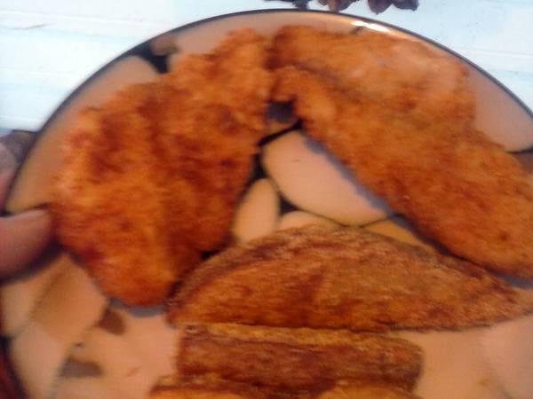 Brad's cheese fried fish