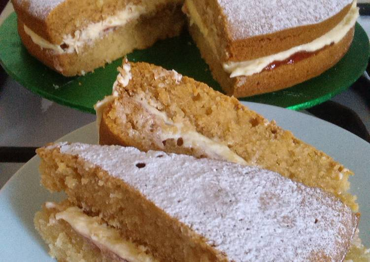 Dairy Free Sponge Cake Recipes Uk: Vickys 'Free-From' Victoria Sponge Cake, GF DF EF SF NF