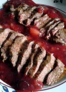 Venison Steaks & Fruit Sauce