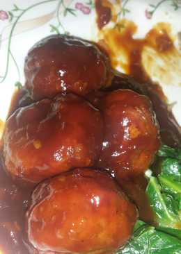 Sticky Barbacue Meatballs
