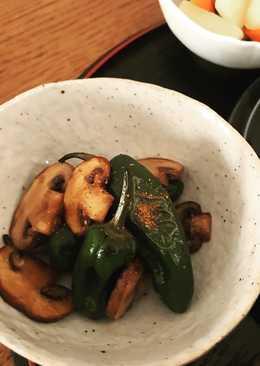 Padron Pepper and Mushroom Kinpira