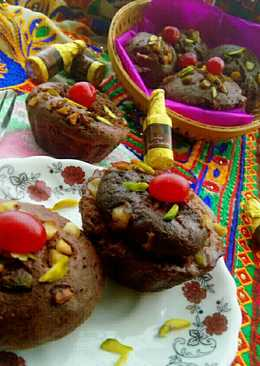 Steamed Dry fruits Chocolate cup cake