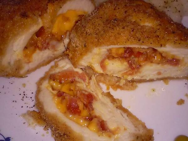 Bacon chedder stuffed chicken