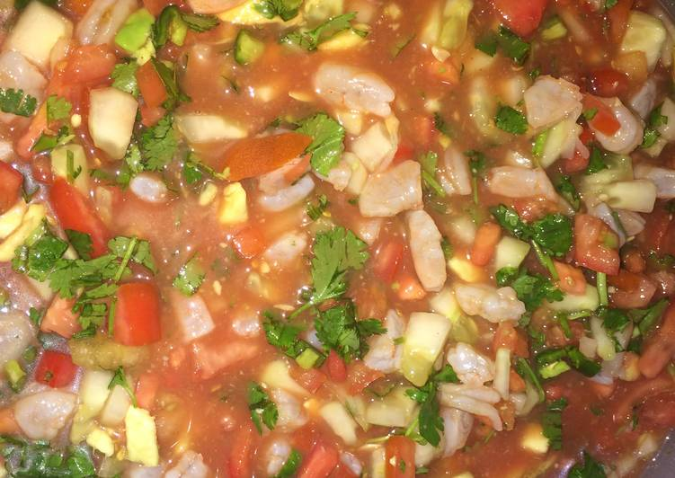 Mexican Style Shrimp Ceviche Recipe by crabby patties - Cookpad