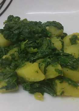 Saag Aloo (spinach & patato curry