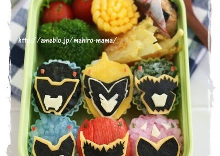 charaben all 6 heroes from zyuden sentai kyoryuger recipe by cookpad