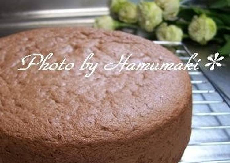 Chocolate Cake Recipe Japanese: Chocolate Sponge Cake With Cocoa (Only 4 Ingredients