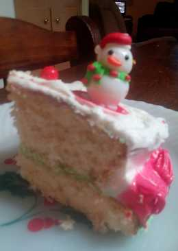Sunshines Christmas Yellow Cake and Butter Cream