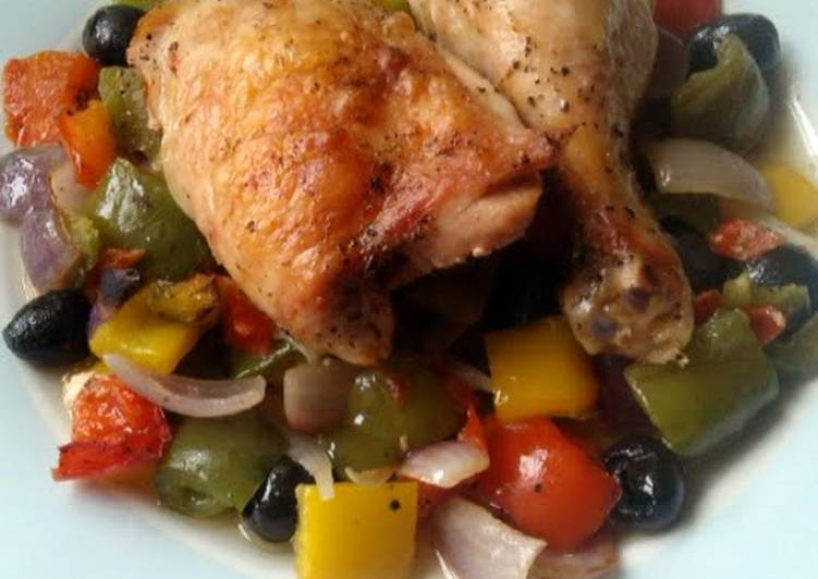 Vickys Mediterranean-Style Roast Chicken & Veg, GF DF EF