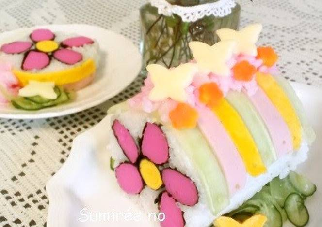Flower Sushi Roll for Hina Matsuri or Mother's Day Recipe by cookpad ...